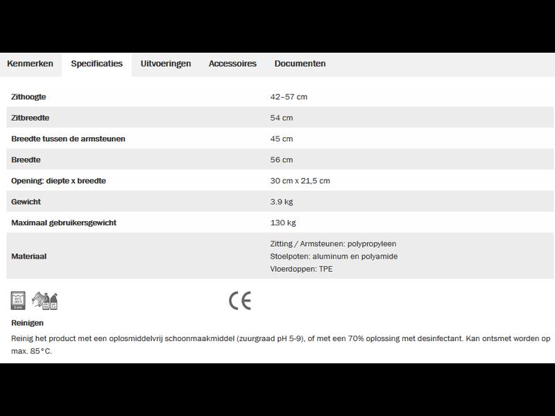 Etac Swift vrijstaande toiletverhoger (nur NL/BE)