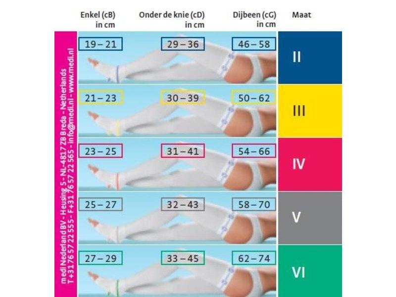 Mediven Struva 35 AG/H bas de cuisse, attachable a l'hanche