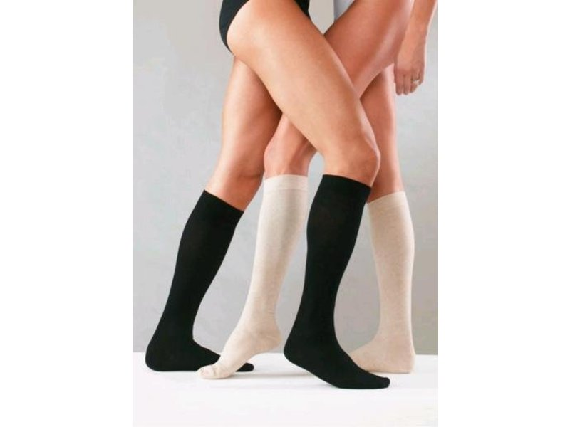 Sanyleg Preventive CottonAD Knee Stockings 25-27mmHg