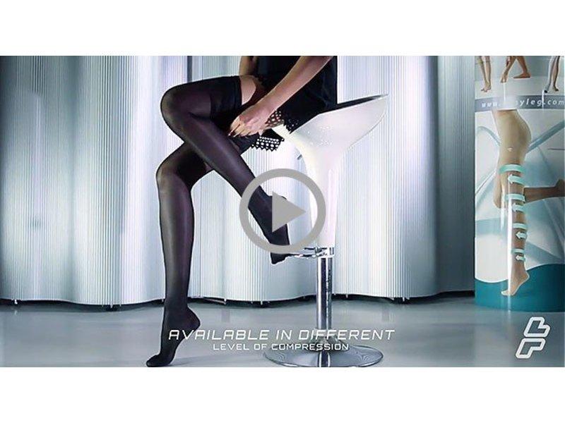 Sanyleg Preventive Sheer AG Thigh Stockings 15-21mmHg