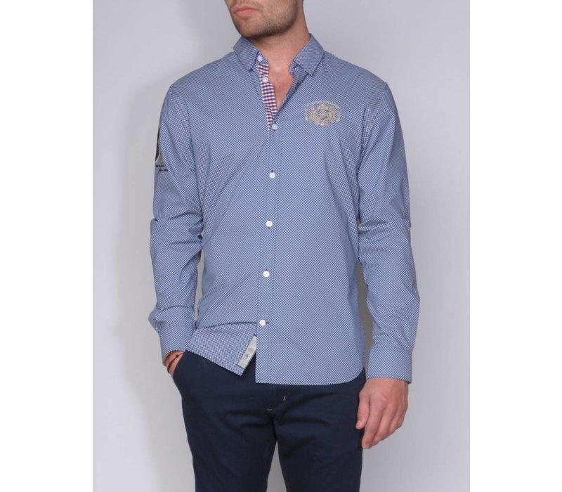 shirt AGUSTIN II briliantblue-white