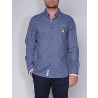 shirt ALANO I briliantblue-white
