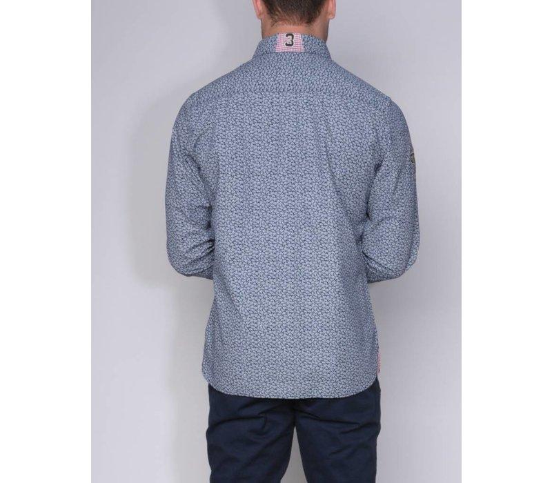 shirt ALEJO II m.navy-white