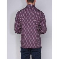 shirt AGUSTIN III midnight navy-deep red