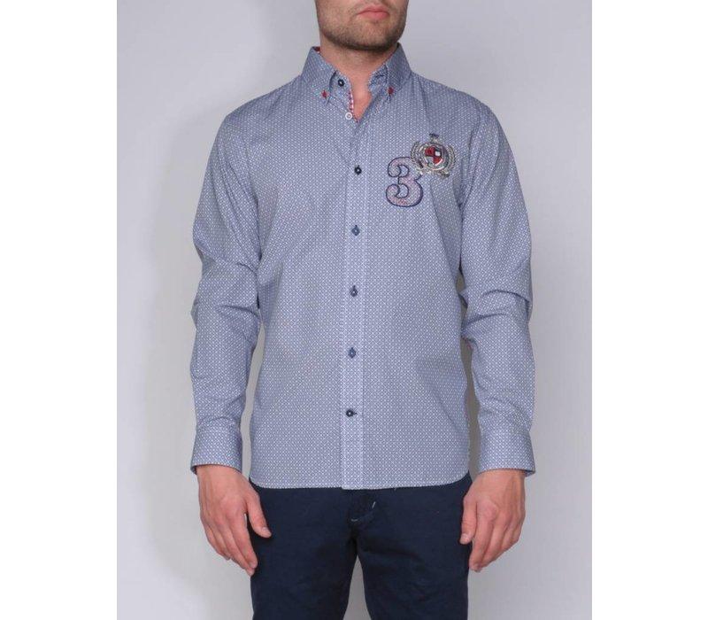 shirt ANDRES II briliantblue-white