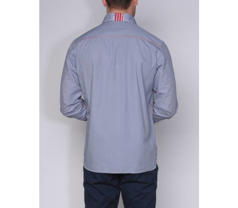 shirt ANDRES II briliantblue-white