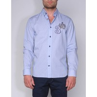shirt ANDRES VI sky blue-dark red