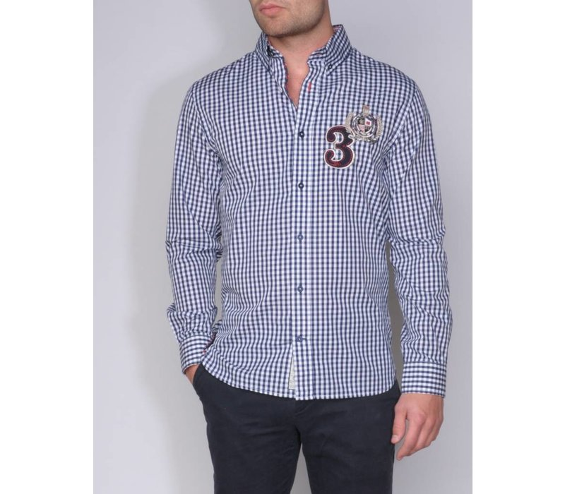 shirt ANDRES VII m.navy-white