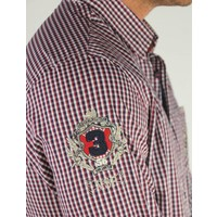 shirt ALANO II deep red-midnight navy