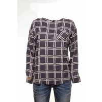 Blouse PAQUITA navy-offwhite