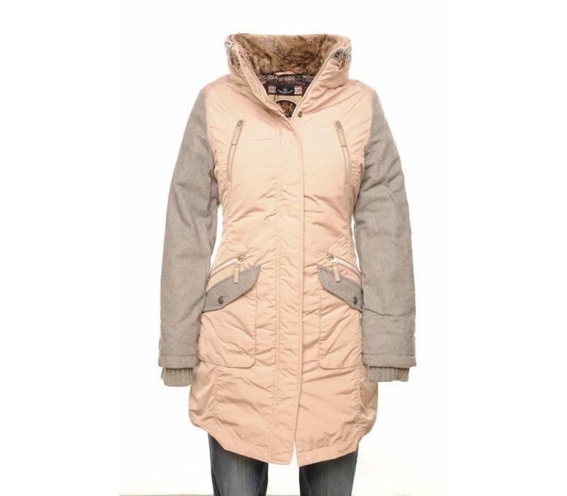 Coat CATALINA taupe-silvergrey