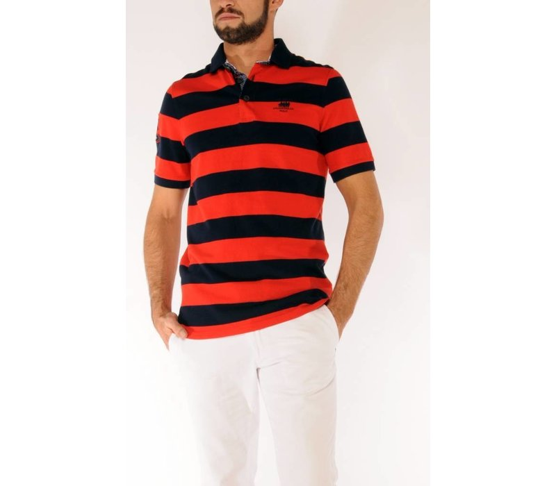 Polo MAXIMO Navy-Power Red