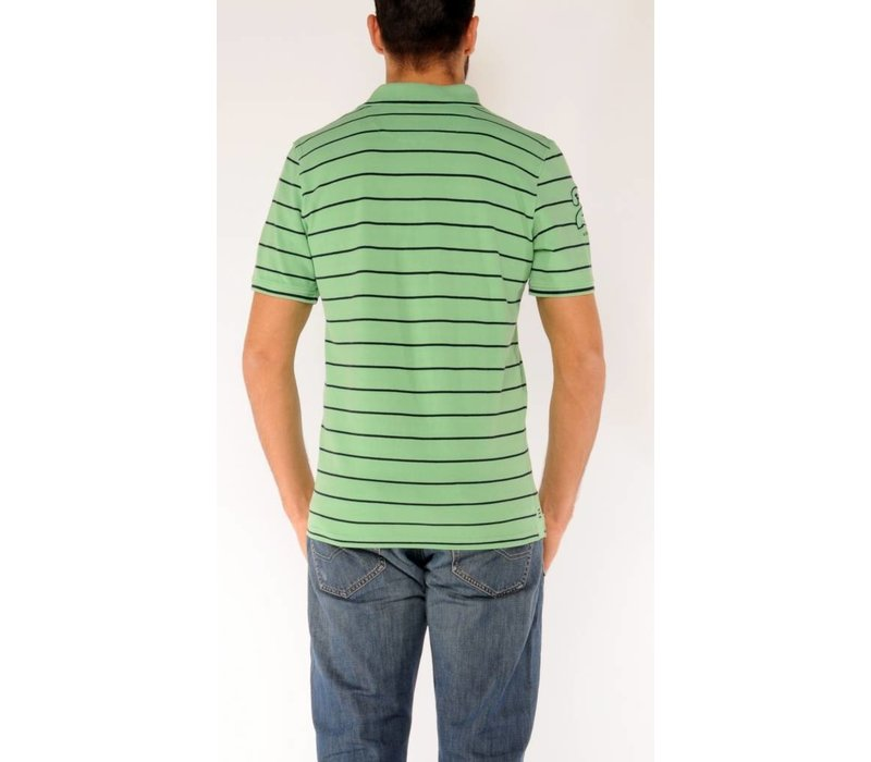 Polo OLAF Light Green-Marine