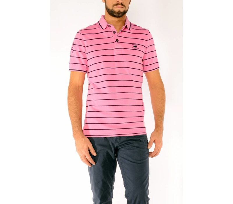 Polo OLAF Pink-Marine