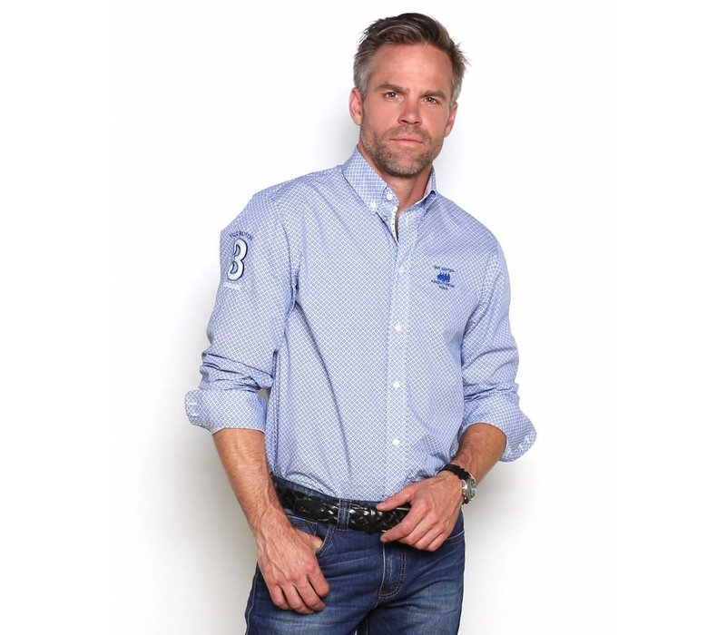 Shirt EDWARD P Briliant Blue-White