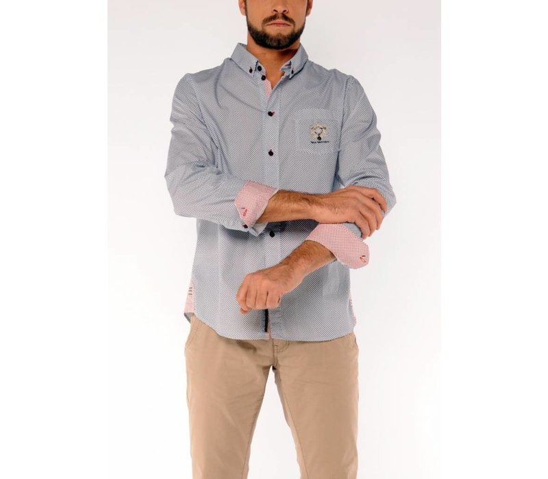 Shirt ERON D Navy-White