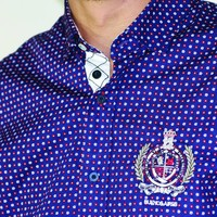 Shirt EMIL F Navy-Power Red