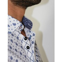 Shirt EMIL P White-Navy