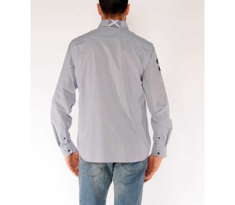 Shirt EMIL R White-Navy