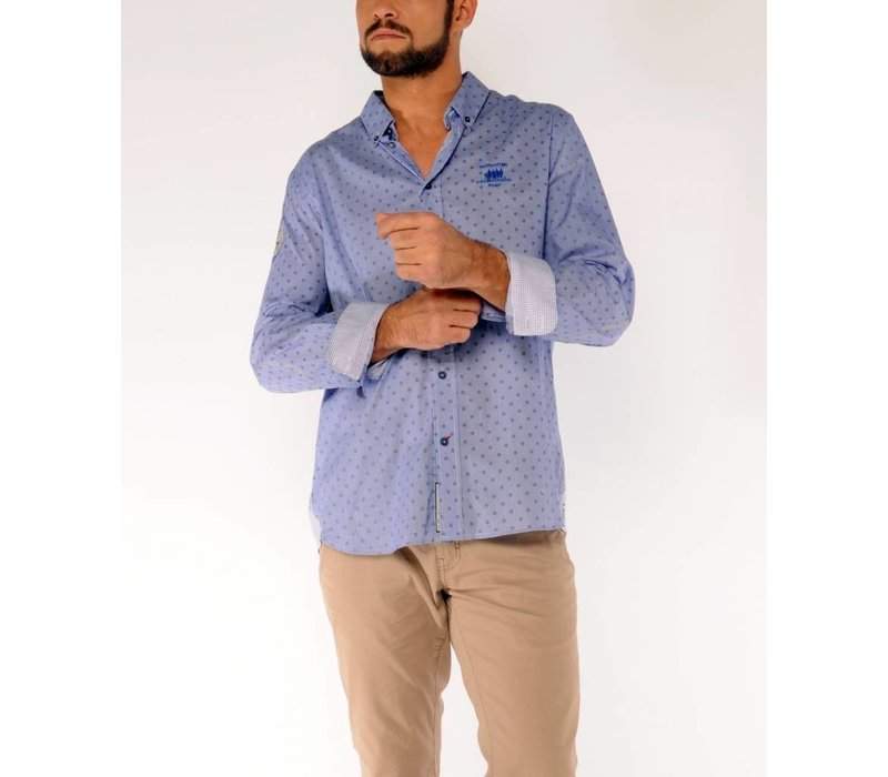 Shirt ERIC F Navy-Yellow