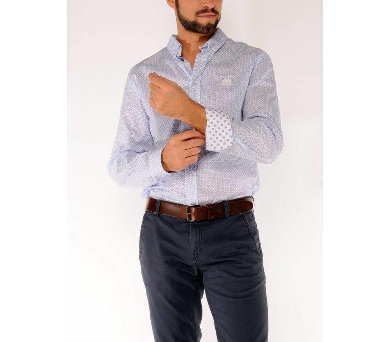 Shirt ERIC D White-Azure
