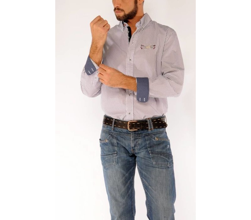 Shirt SERGIO D White-Navy