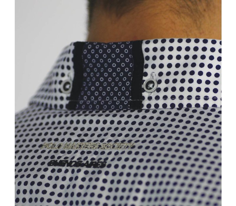 Shirt SERGIO D White-Navy