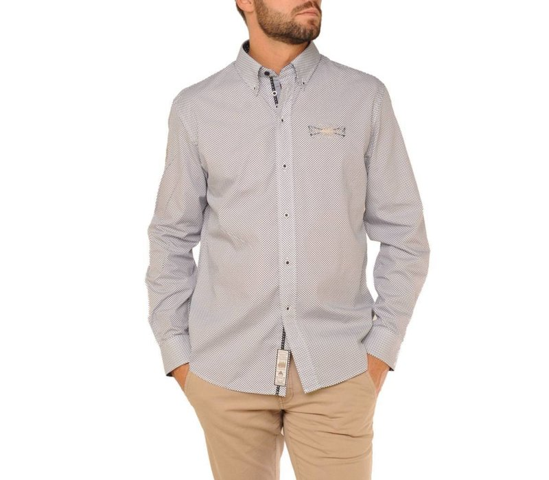 shirt SERGIO N Navy-White
