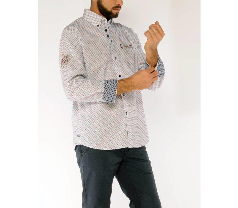 Shirt SERGIO C Navy-Power Red