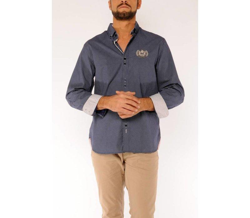 Shirt SANTOS A White-Navy
