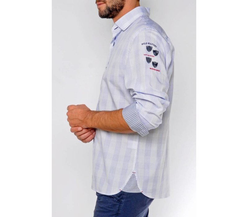 Shirt DAVID white-royalblue