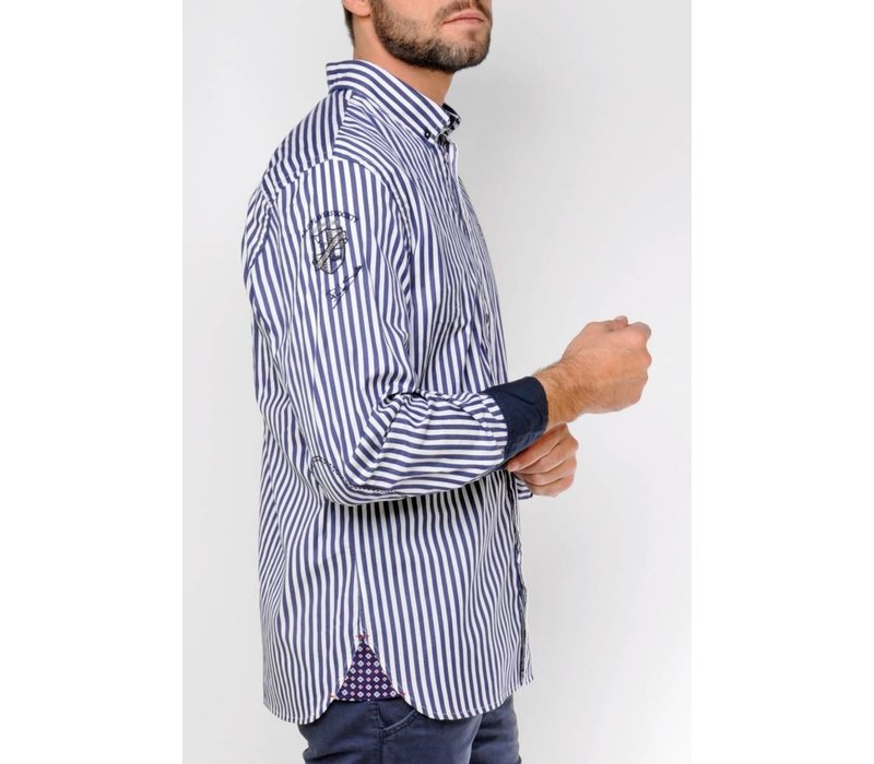 Shirt DOMINGO midnightnavy-white