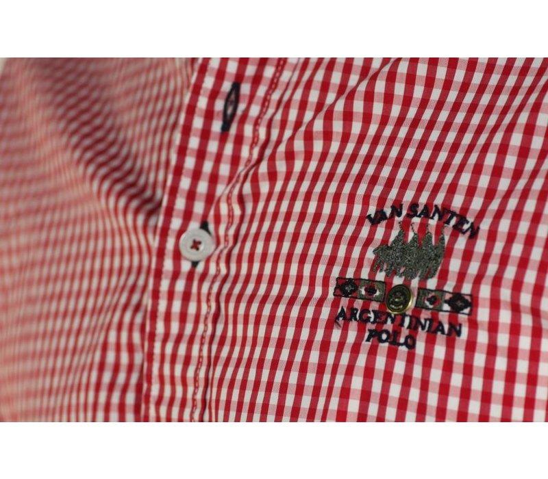 Shirt DONZEL tango-white