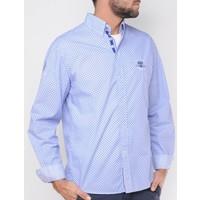 Shirt DONZEL wit-blauw