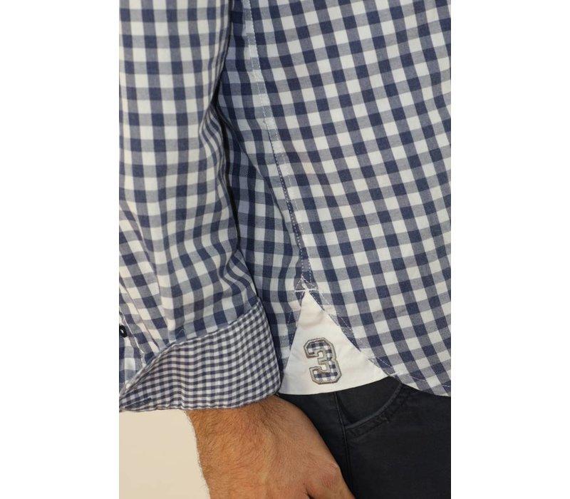 Shirt DARLO white-darkduskblue