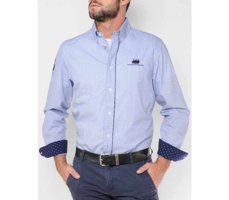 Shirt DAMARIO white-royalblue
