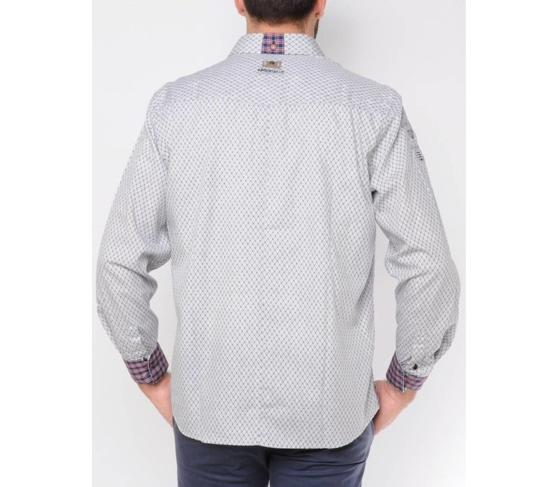 Shirt DIMITRI silvergrey-midnightnavy