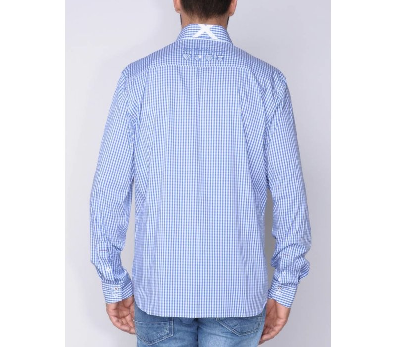 Shirt DIONIS royalblue-white