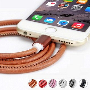 Luxe lederen oplaadkabel Iphone 6