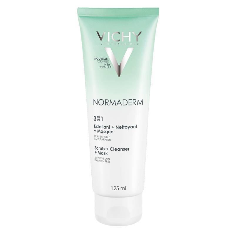 Vichy Vichy NORMADERM 3-in-1 Reiniger: Reinigingscrème, Peeling, Masker - 125ml