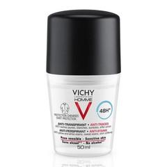 Vichy Vichy Homme Anti-transpirant DEODORANT 48u Anti-witte en Gele Vlekken roller - 50ml