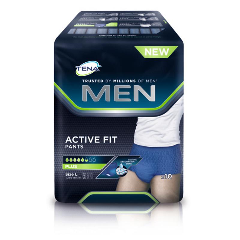 Tena Tena Men Active Fit Large - 10st