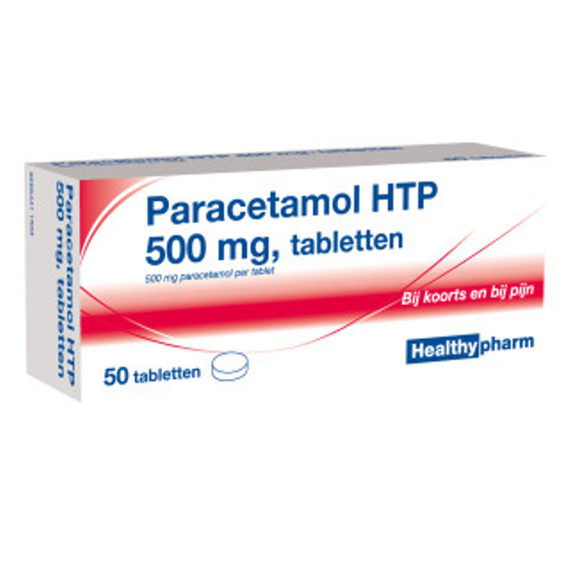 Healthypharm Paracetamol HTP 500mg tabletten - 50st