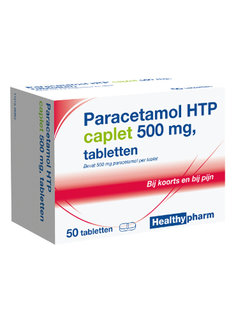Healthypharm Paracetamol HTP caplet 500mg tabletten - 50st