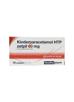 HealthyPharm HealthyPharm Kinderparacetamol HTP zetpil 60mg - 10st
