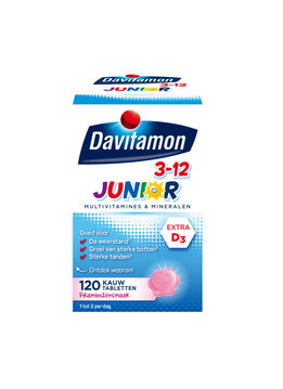 Davitamon Davitamon Junior Kauw Vitamines  - 60st