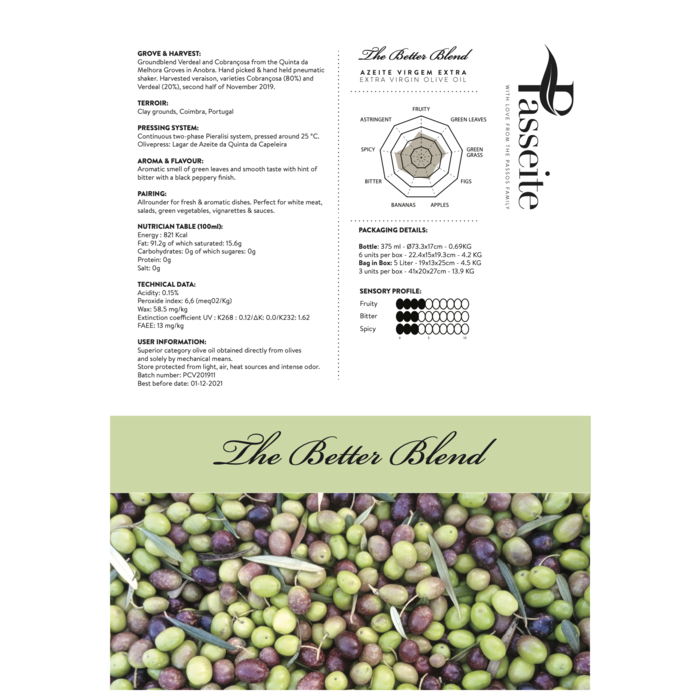 The Better Blend Extra Virgin Oliveoil