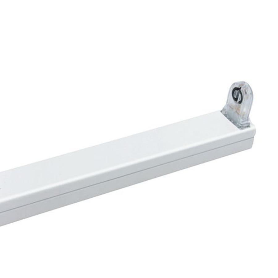 LED T8 Lysstofrør armatur 150 cm hvid aluminium