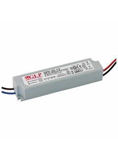 LED Strømadapter - 12V 24W 2A - Egnet til 12V LED-lys - IP67 vandtæt