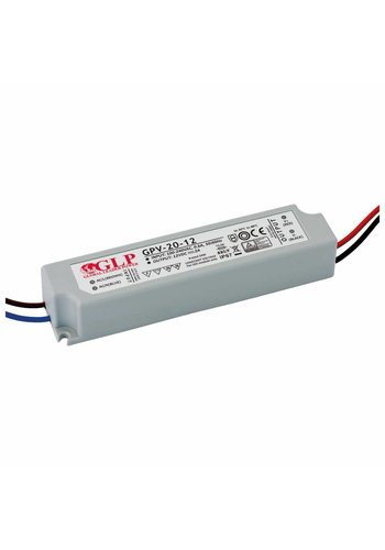 LED 12V strømforsyning  -  24W Max. - 2A - velegnet til 12V LED belysning - IP67 vandtæt